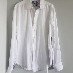 Robert Graham Dress Shirt Paisley Cuff Size 2XL